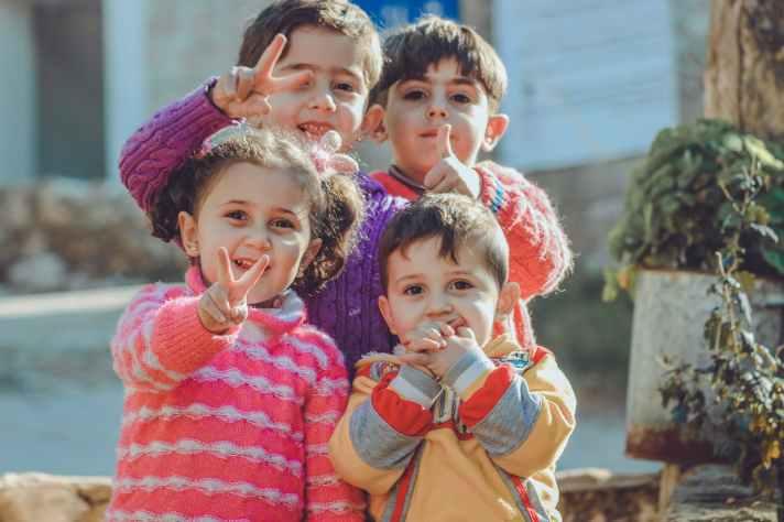 photograph of happy children